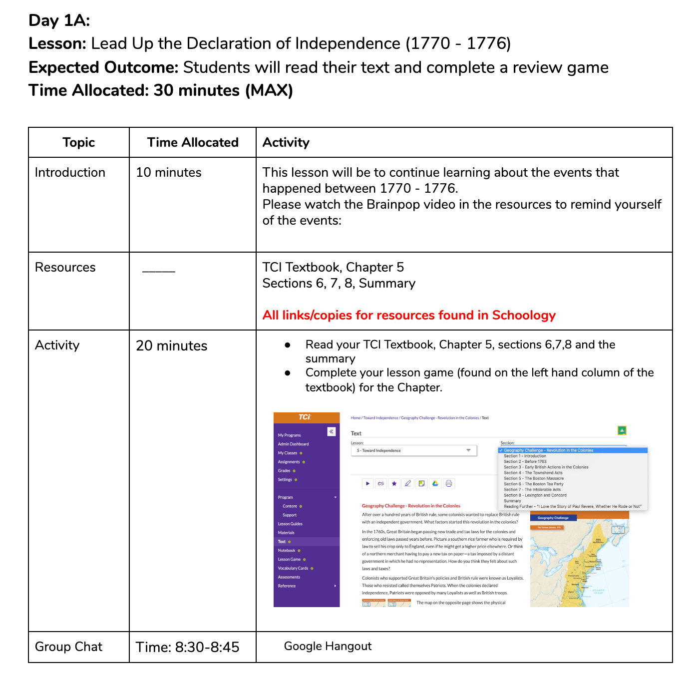 HKIS Distance Learning Template Sample